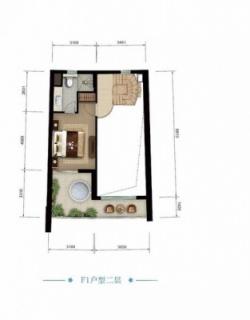 海景公寓 F1二层户型图