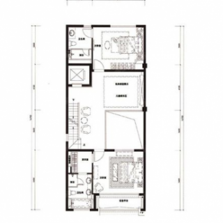 联排二层户型图
