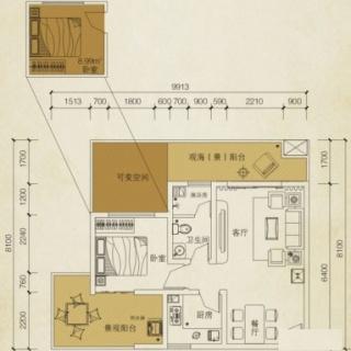 观澜阁B3户型图