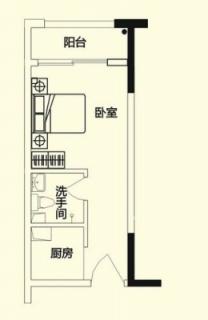 商务公寓标准层D户型