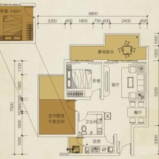 听涛阁C6户型图