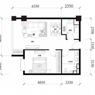 公寓标准层D户型