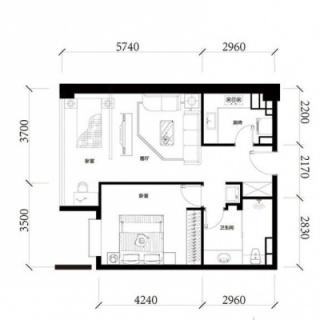 公寓标准层D2户型