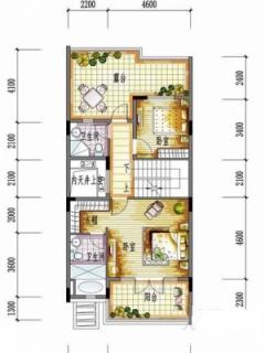 一期别墅F户型二层