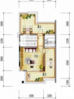 一期别墅E户型三层