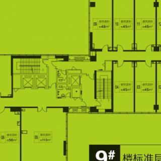 9号楼标准层平面户型