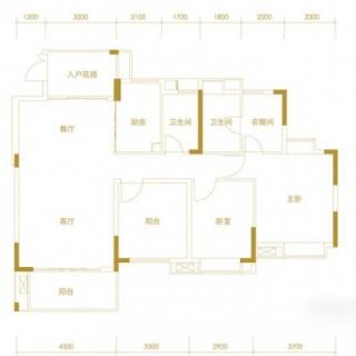 Y1-10栋401-501标准层户型