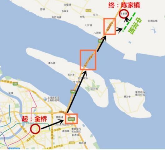 关于长兴岛的地铁规划,轨道交通崇明线起自浦东金桥,经长兴岛至崇明陈