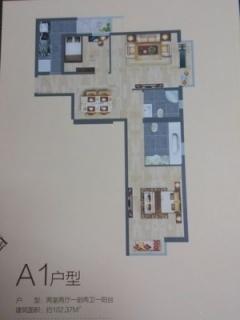 A1户型图两室两厅102平