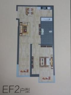 EF2户型图两室两厅67平