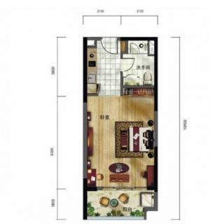 洋房户型图A1