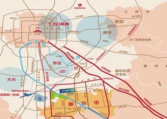 廊坊经济技术开发区地图