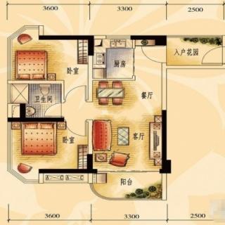 商业街洋房J606-A户型2
