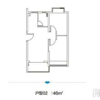 2室1庭46平