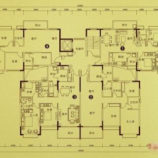 公寓S14(220栋)户型
