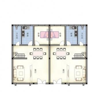 联排别墅一层平面图