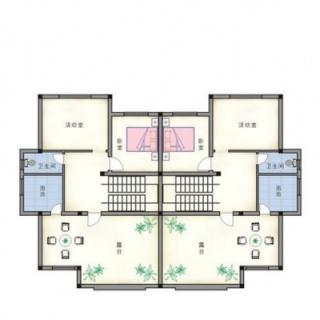 双拼别墅三层平面图