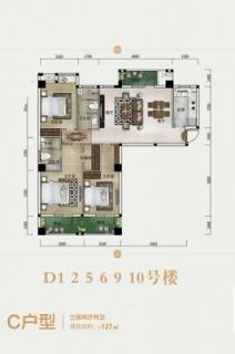 D1、D2、D5、D6、D9、D10号楼C户型