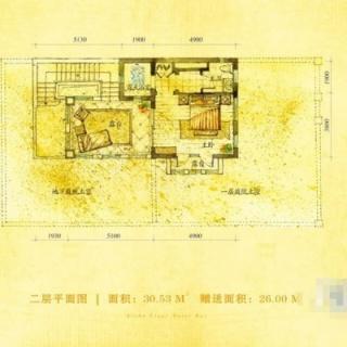 别墅A户型80.11㎡地上二层