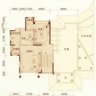 东湖洲花园3、9座03、04单元复式二层户