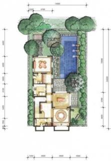 6A户型花园层平面图