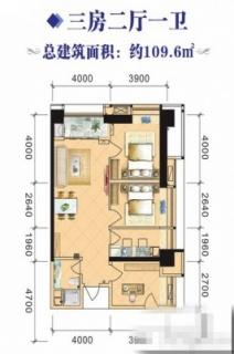 4#、8#3室2厅109.6㎡户型