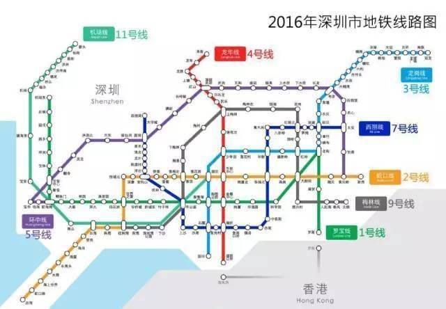 2030年深圳将有16条地铁开通,快看经过你家吗?