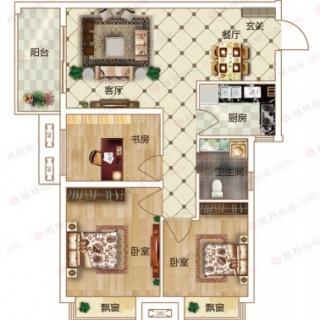 3室2厅1卫B1户型