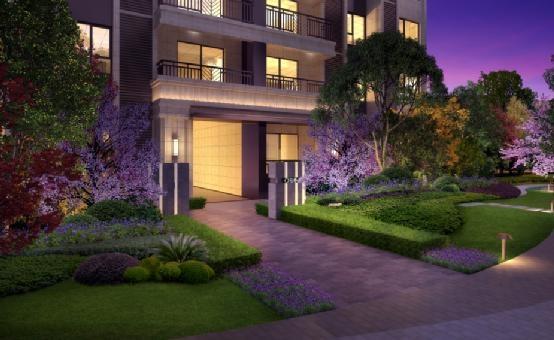 小区入口的银杏树阵,让归家第一步就充满仪式感和幸福感;中庭种植各式