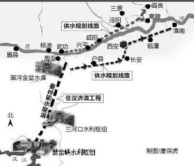 据陕西省引汉济渭工程建设有限公司介绍,引汉济渭工程调水规模15亿立方米,其中一期(2020年)调水