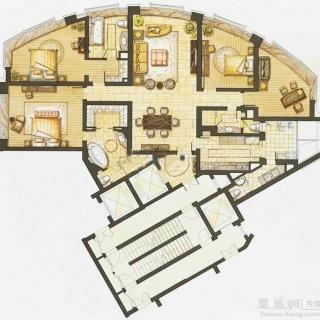 华丽家族汇景天地4室2厅1厨4卫