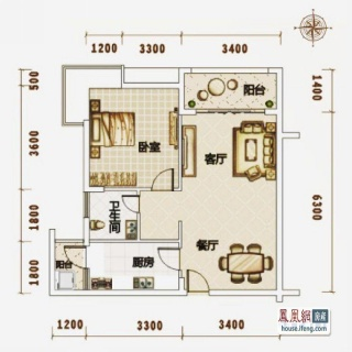 高层公寓1#C07户型