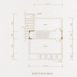D户型屋面布置图