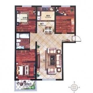 7#三居户型图