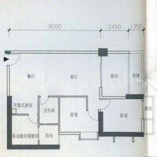 B1栋8-44层07户型3室