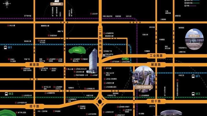 楼盘详情 : 鼎峰中心是国企金鲁班集团在济南市继奥体金融中心101大厦之后的又一精品力作。项目位于济南市历下区二环东路与解放路交汇处,地处历下区核心地段,接驳济南东部CBD中央商务区,连通百年老城市中心。周边多条主干道通达八方,30条公交线路及轨道交通畅达全城。项目配套齐全,3公里范围内,辐射科技市场、山师商圈、燕山商圈及中央商务区四大核心商圈,投资自用两相宜。   项目总建筑面积7.
