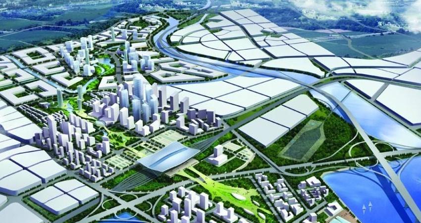 以青岛西站为中心,规划建设青岛西站综合交通枢纽换乘中心及配套工程