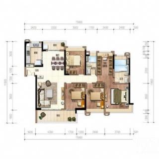 7、8号楼户型(建面153㎡的4+1房)