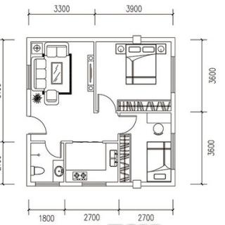 2#建面66.78平米户型