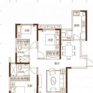 一期22-25号楼C户型