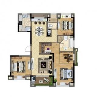 洋房139平米3室2厅2卫
