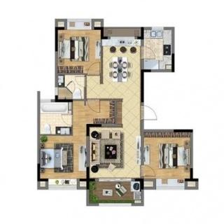 洋房127平米3室2厅2卫
