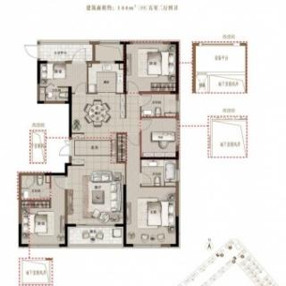 E1 144平米 五室两厅四卫