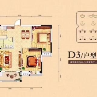 C1-C4号楼D3户型