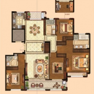 四室两厅三卫179平