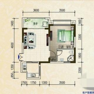罗马园一房公寓户型