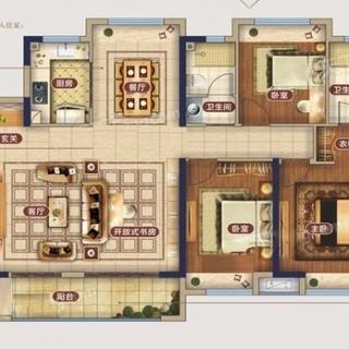 1、4、7号楼C1户型