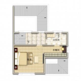 联排别墅190平米户型三层