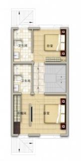 联排别墅南130平二层