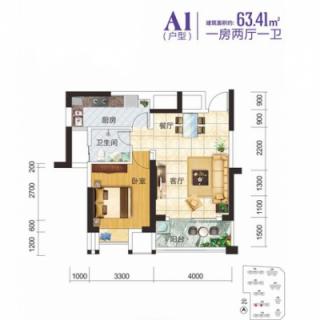 2-3-7栋住宅A1户型